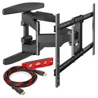 "Full Motion Articulating TV Wall Tilt Mount Bracket Tilting 42-70"" w/HDMI cable - Black"