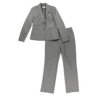 Le Suit Womens Country Club Pinstripe 2PC Pant Suit - 6