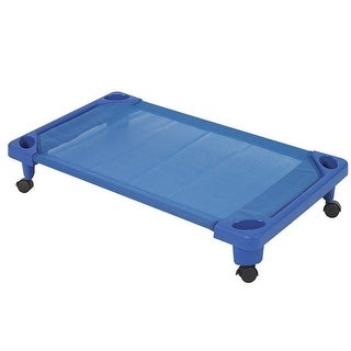 s Streamline Assembled Toddler Cot with Casters - Blue