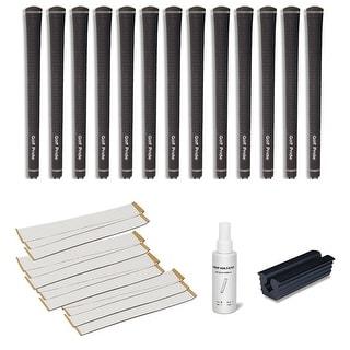 Golf Pride Tour Velvet Undersize 0.580 Ribbed - 13 pc Golf Grip Kit (with tape, solvent, vise clamp)