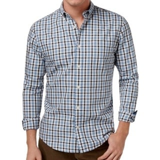 Tommy Hilfiger NEW Blue Mens Size Small S Plaid Button Down Shirt
