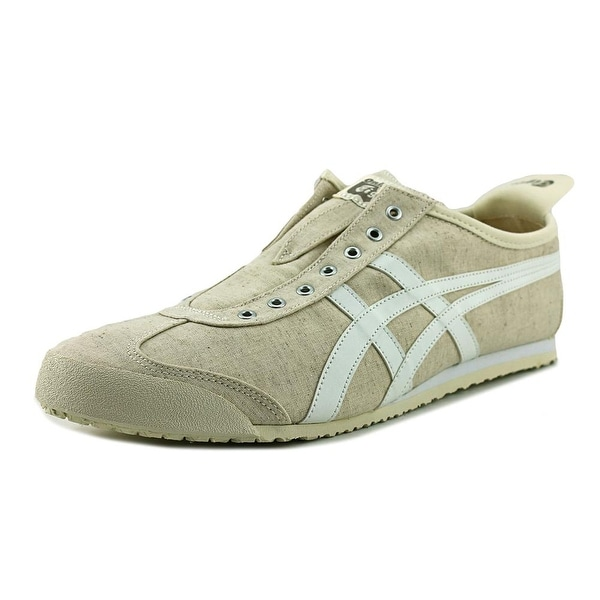 566f883a275 Onitsuka Tiger by Asics Mexico 66 Slip-On Men Round Toe Canvas White  Sneakers