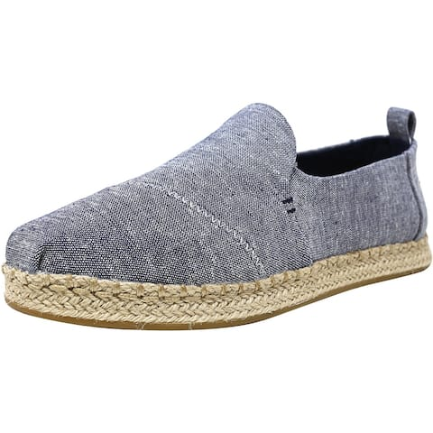 Toms Women's Deconstructed Alpargata Rope Chambray Ankle-High Fabric Slip-On Shoes