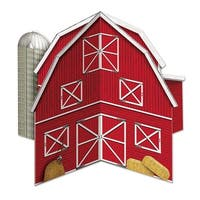 """Club Pack of 12 Classic Red Barn 3-D Centerpiece Table Decorations 10"""""""