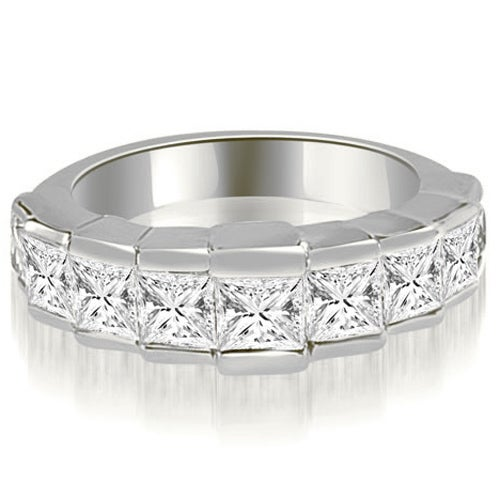 3.00 cttw. 14K White Gold Princess Diamond 9-Stone Wedding Band