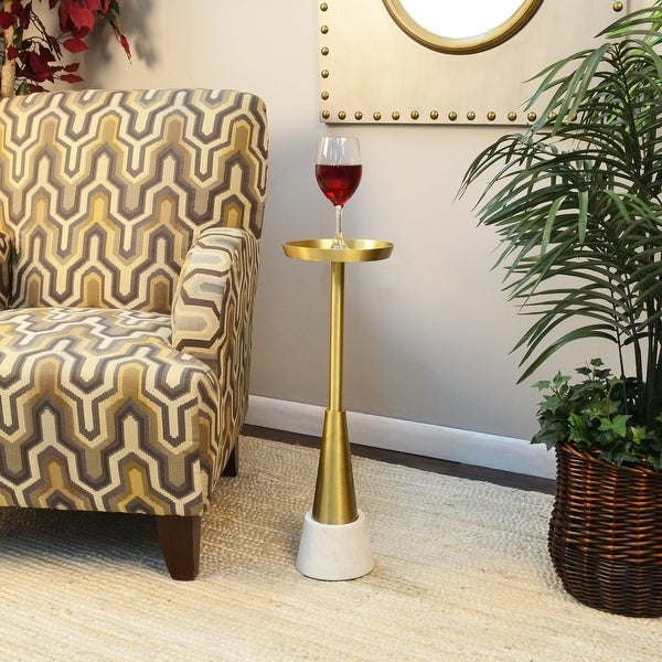 Ilia Small Drink Table, Gold. Opens flyout.