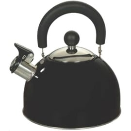 Euro-Ware 309-BK Whistling Tea Kettle, Stainless Steel, 2.5 Quarts