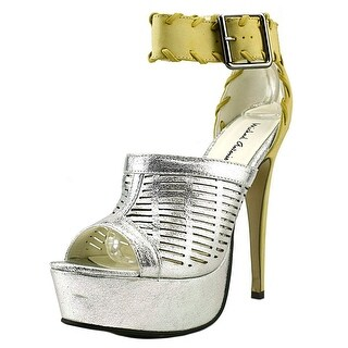 Michael Antonio Thurborn Women Open Toe Synthetic Silver Platform Heel