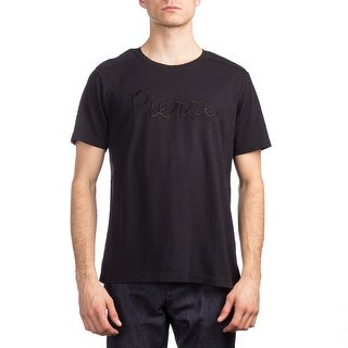 Pierre Balmain Men's Cotton Logo Short Sleeve T-Shirt Black