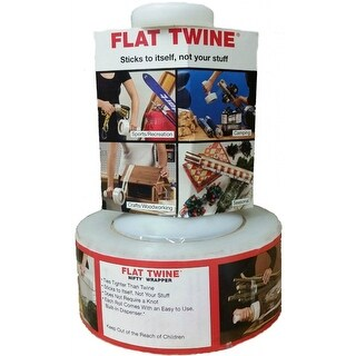 "Nifty ST-21 Flat Twine Cast Stretch Film with Dispenser, 2"" x 650'"
