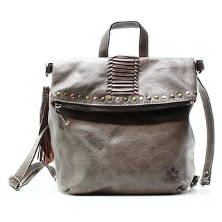 Patricia Nash NEW Gray Leather Washed Luzille Convertible Backpack Bag