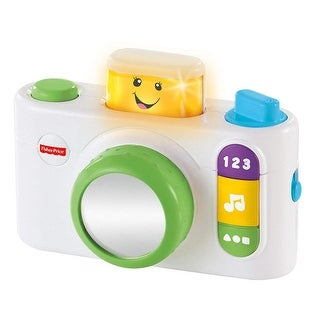 Fisher-Price Laugh and Learn Click n Learn Selfie Camera, White