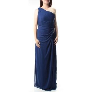 Womens Blue Sleeveless Full Length Empire Waist Prom Dress Size: 6