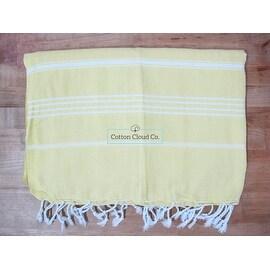 Turkish Cotton Lemon Color XXL Beach,Bath Towel,Throw,Blanket 90x67