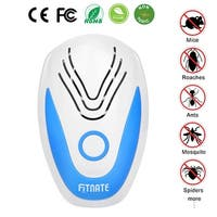 NEW Fitnate Ultrasonic Plug In Pest Repeller Electronic Spider Repellent for Insect Bug Mosquito Mouse Bedbug Roaches - White