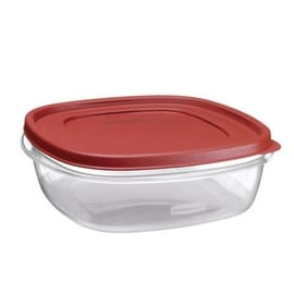 Rubbermaid 1777090 Food Storage Container, 9 Cup, Clear Base