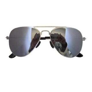 Eyekepper Stainless Steel Frame Silver Mirror Lens Aviator Kids Children Sunglasses Silver Frame