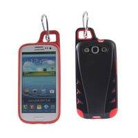 REIKO SAMSUNG GALAXY S3 DROPPROOF WORKOUT HYBRID CASE WITH HOOK IN BLACK RED