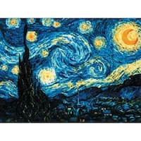 Starry Night After Van Gogh's Painting Counted Cross Stitch 14 Count