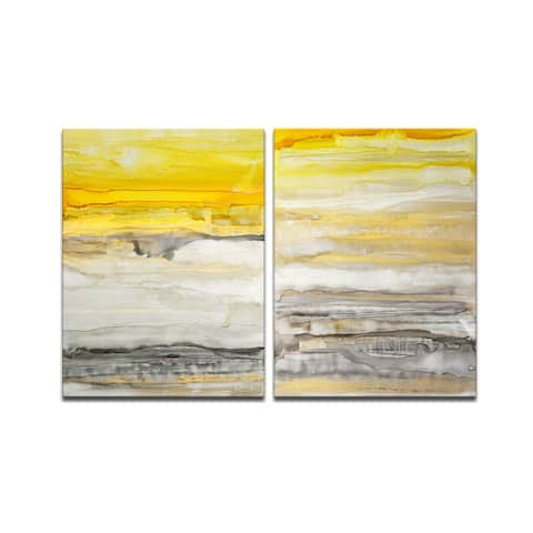 'New Sunset I/II' 2 Piece Wrapped Canvas Wall Art Set by Norman Wyatt Jr.