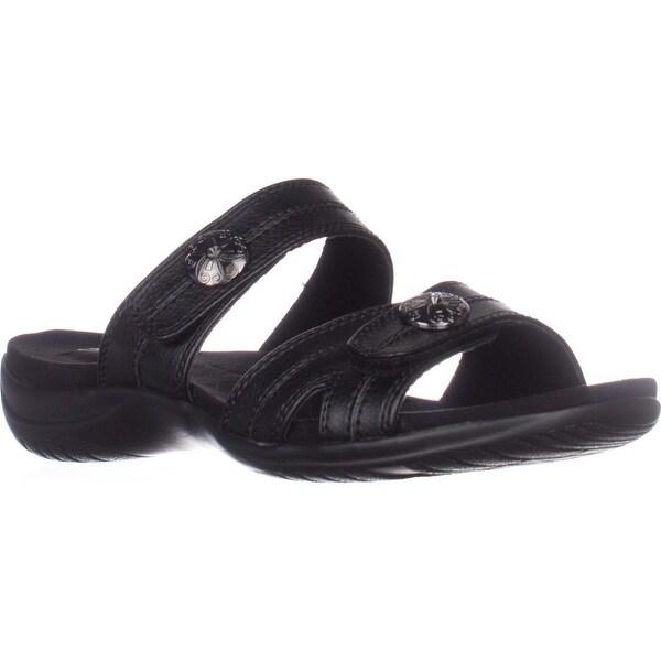 Easy Street Ashby Flat Comfort Slide Sandals, Black/Black - 9 n us