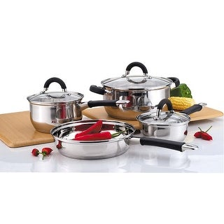 Link to Culinary Edge 02227 Stainless Steel 7-Piece Cookware Set Similar Items in Cookware
