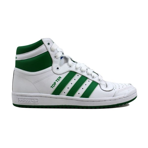 Shop Adidas Men s Top Ten Hi White Green B26164 - On Sale - Free ... d9e3d8d747