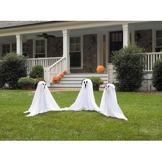 """19"""" Tall Light Up Lawn Ghosts Outdoor Halloween Decoration - Multi"""