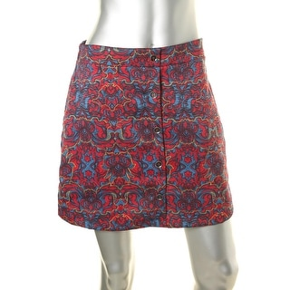 Lush Womens Mini Polyester A-Line Skirt - M