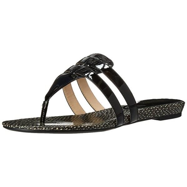 Nine West Womens Outside Open Toe Casual T-Strap Sandals