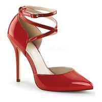 Pleaser Women's Amuse 25 Red Patent