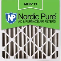 Nordic Pure20x20x4 Pleated MERV 13 AC Furnace Air Filters Qty 2