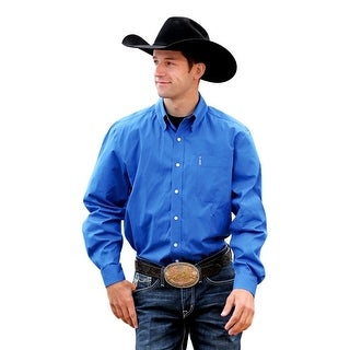 Cinch Western Shirt Mens Long Sleeve Modern Pocket Blue