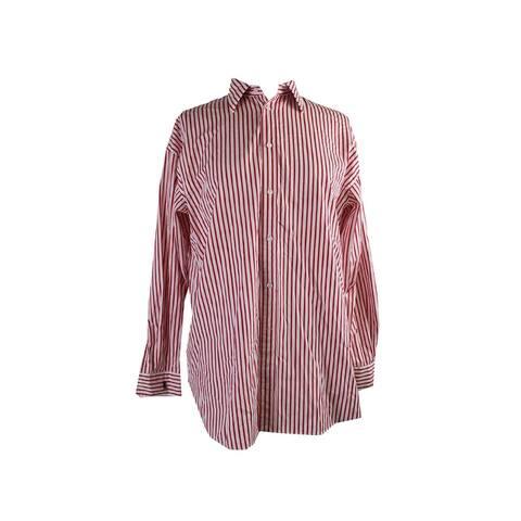 Polo Ralph Lauren Red White Long-Sleeve Button-Down Shirt 12