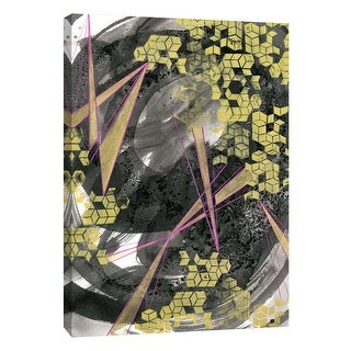 """PTM Images 9-108617  PTM Canvas Collection 10"""" x 8"""" - """"Golden Fractals 4"""" Giclee Abstract Art Print on Canvas"""