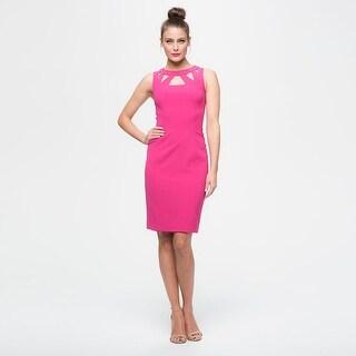 Eliza J Cutout Detail Sheath Dress, Pink, 2