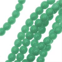 Czech Glass Pastella Collection, Smooth Round Druk Beads 4mm, 1 Strand, Green Turquoise