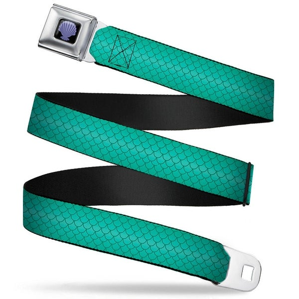 The Little Mermaid Clam Shell Full Color Black Purples Ariel's Scales Seatbelt Belt