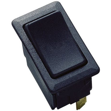 Gardner Bender GSW-45 SPST Standard Rocker Switch, 20 Amp, Black