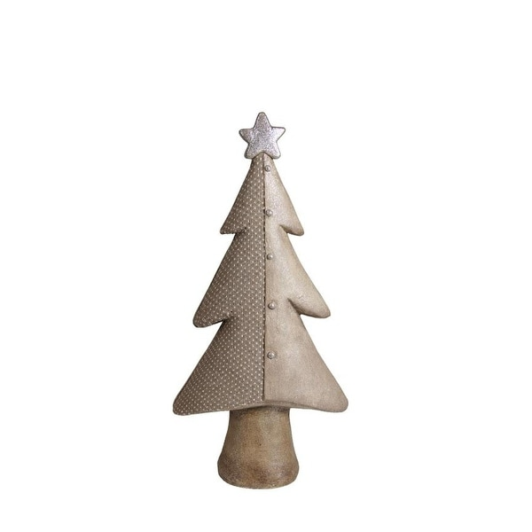 "24"" Brown Textured Eco-Friendly Christmas Tree Tabletop Figure"