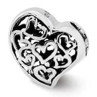 Sterling Silver Reflections Cutout Hearts Bead (4mm Diameter Hole)