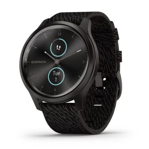 Garmin vivomove Style Hybrid Smartwatch (Graphite w/Black Pepper Band)