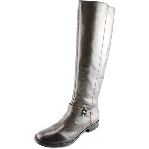 Sole Society Shineh   Round Toe Leather  Knee High Boot