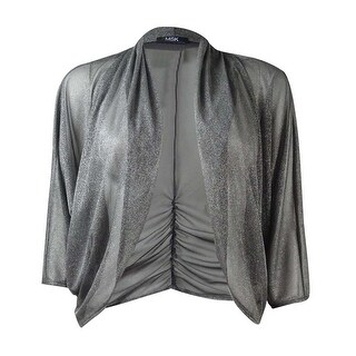 MSK Women's Ruched Sparkle Chiffon Shrug