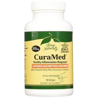Terry Naturally CuraMed 375 mg - 120 Softgels - Healthy Inflammation Response - Superior Absorption Curcumin - Non-GMO