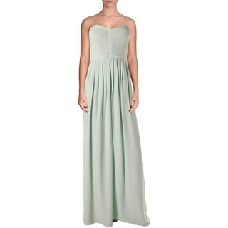 Parker Womens Maxi Dress Silk Strapless