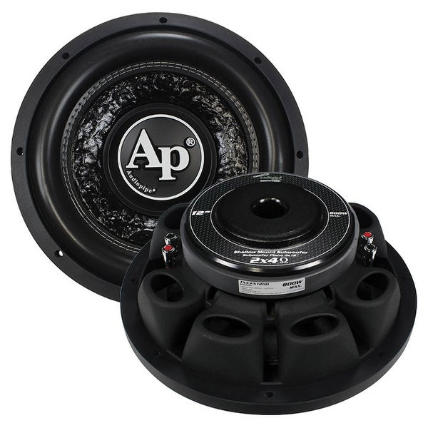 "Audiopipe Shallow 12"" Subwoofer DVC 4 ohm 800 Watts Max"