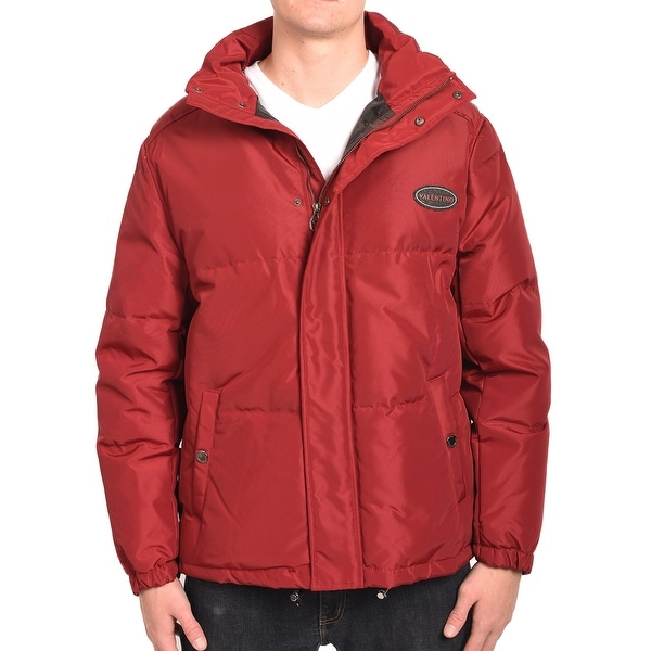 Valentino Men Parka Jacket Red