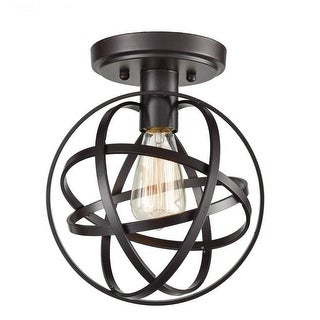 Industrial globe wire cage ceiling light fixture