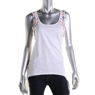 Zara Trafaluc Womens Embroidered Side Tie Tank Top - M